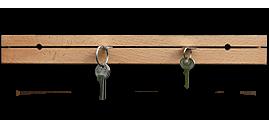 Věšáky na klíče masiv
