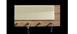 Věšáky na klíče s částečným sklem