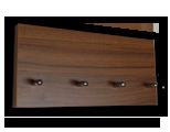 Tmavě hnědý věšák na klíče ořech  /Key hanger/ Schlusselbretter/