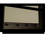 Venge věšák na klíče s častečným bílým sklem /Key hanger/ Schlusselbretter/