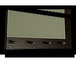 Venge věšák na klíče s častečným šedým sklem /Key hanger/ Schlusselbretter/