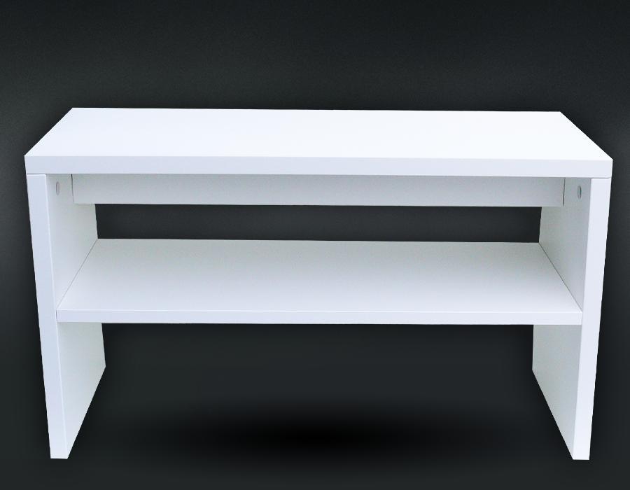 Botník sedací široký bílý