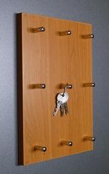 Věšák na klíče na výšku pro 9 svazků klíčů Olše