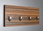 Makassar věšák na klíče + háček /Key hanger/ Schlusselbretter/