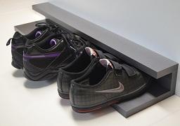 Police na boty - šedá metal