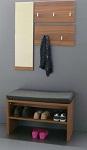 Set : Zrcadlo +2x věšák na kabáty + sedací botník