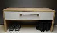 Botník sedací s šuplíkem 90 cm široký