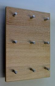 Věšák na klíče na výšku pro 9 svazků klíčů DUB