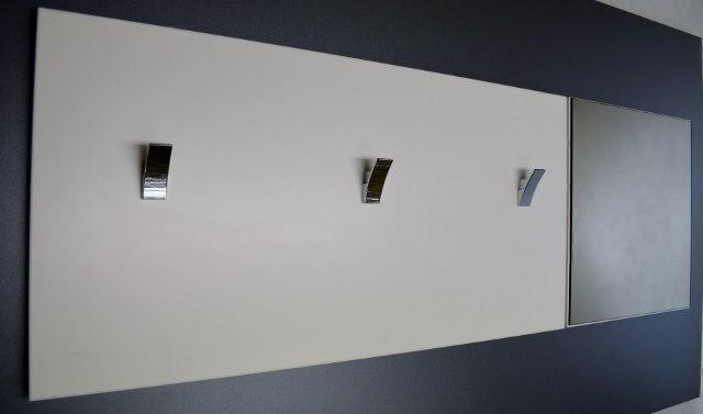 Předsíňová stěna obdélník velký + zrcadlo čtverec 01