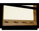 Zebrano věšák na klíče s bílým sklem /Key hanger/ Schlusselbretter/