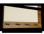 Zebrano věšák na klíče s šedým sklem /Key hanger/ Schlusselbretter/