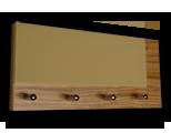 Zebrano věšák na klíče s béžovým sklem /Key hanger/ Schlusselbretter/