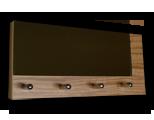 Zebrano věšák na klíče s častečným zrcadlem /Key hanger/ Schlusselbretter/