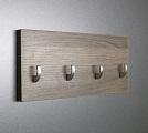 Šedý věšák na klíče + háček  /Key hanger/ Schlusselbretter/