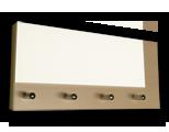 Javor věšák na klíče s bílým sklem /Key hanger/ Schlusselbretter/