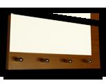 Olše věšák na klíče s bílým sklem /Key hanger/ Schlusselbretter/