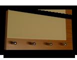 Olše věšák na klíče s béžovým sklem /Key hanger/ Schlusselbretter/