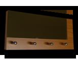 Olše věšák na klíče s častečným zrcadlem /Key hanger/ Schlusselbretter/