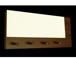 Tmavě hnědý věšák na klíče ořech s bílým sklem /Key hanger/ Schlusselbretter/