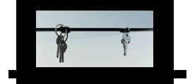 Věšák na klíče s zrcadlem /Key hanger/ Schlusselbretter/
