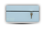 Věšák na klíče s bílým sklem /Key hanger/ Schlusselbretter/