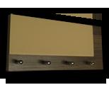 Šedý věšák na klíče s béžovým částečným sklem
