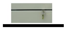 Věšák na klíče s béžovým sklem /Key hanger/ Schlusselbretter/