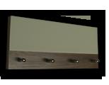 Šedý věšák na klíče s plným šedým sklem
