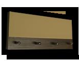 Šedý věšák na klíče s plným béžovým sklem